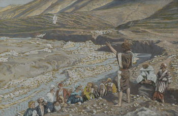 Fine Art Print Saint John the Baptist sees Jesus from Afar