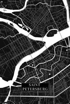 Map Saint Petersburg black