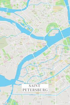 Map Saint Petersburg color