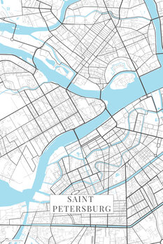 Map Saint Petersburg white
