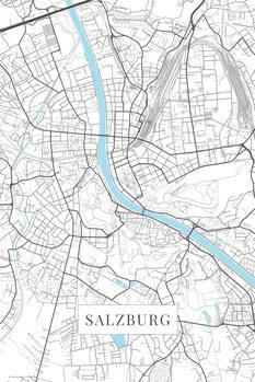 Map Salzburg white
