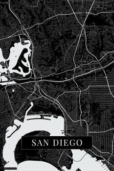 Map San Diego black