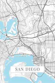 Map San Diego white