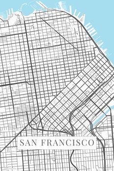 Kartta San Francisco white
