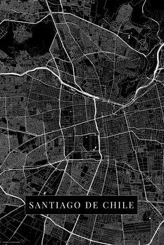 Map Santiago De Chile black