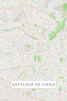 Map Santiago De Chile color