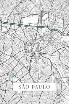 Map Sao Paulo white