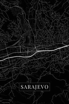 Map Sarajevo black