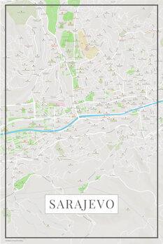Map Sarajevo color