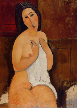 Fine Art Print Seated Nude with a Shirt