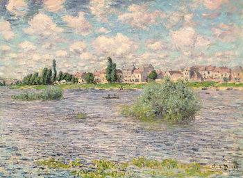 Reprodução do quadro Seine at Lavacourt