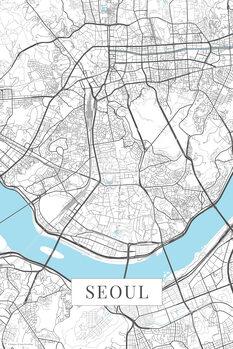 Map Seoul white