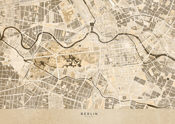Map Sepia vintage map of Berlin