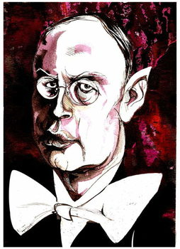 Taidejuliste Sergei Prokofiev - caricature of the Russian composer