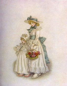 Taidejuliste 'Sisters' by Kate Greenaway