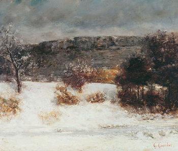 Fine Art Print Snowy Landscape (Vallée de la Loue), c.1876