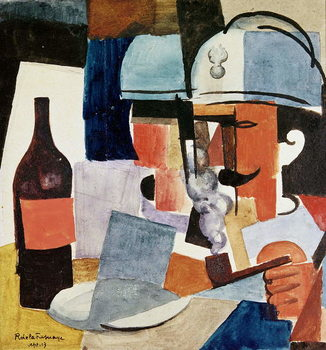 Fine Art Print Soldier with Pipe and Bottle