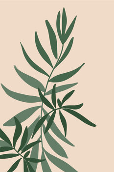 Illustration Solid greenery in green