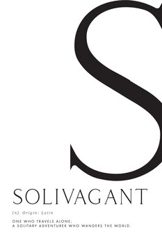 Illustration Solivagant traveller definition