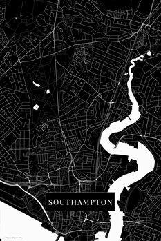 Mapa Southampton black