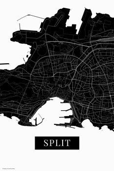 Map Split black