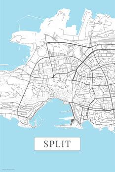 Map Split white