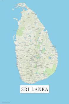 Map Sri Lanka color