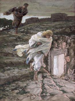 Fine Art Print St. Peter and St. John Run to the Tomb