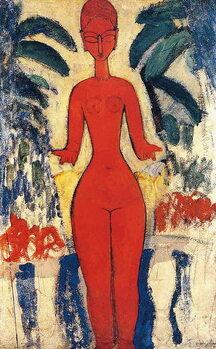 Fine Art Print Standing Nude