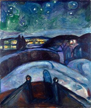 Fine Art Print Star Night Night Landscape in Northern Europe.