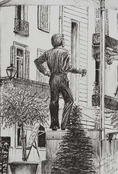 Reprodução do quadro Statue at Cannet, 2014,