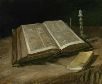 Taidejuliste Still Life with Bible, 1885