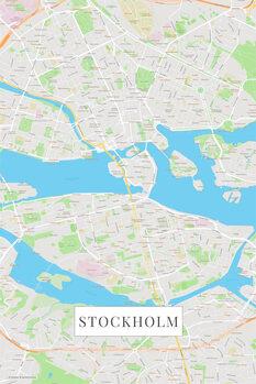 Map Stockholm color