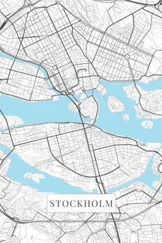 Map Stockholm white