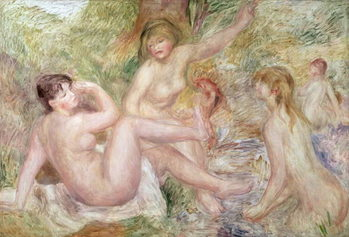 Fine Art Print Study for the Large Bathers, 1885-1901