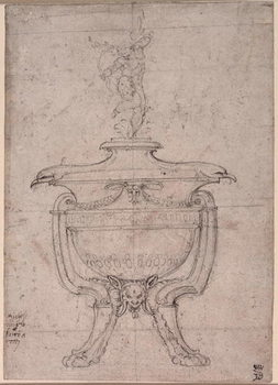Taidejuliste Study of a decorative urn