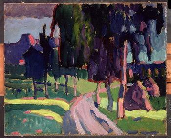 Reprodução do quadro Summer at Murnau, 1908
