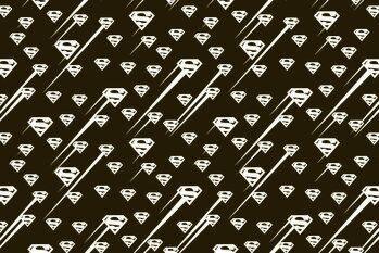 Impressão de arte Superman - Black and white symbol