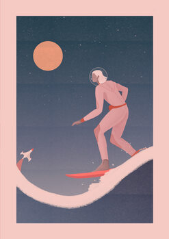 Illustration Surfing on other planets
