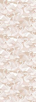 Illustration Swans Cotton
