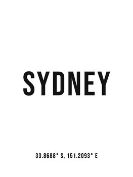 Illustration Sydney simple coordinates