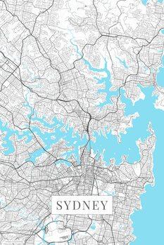 Map Sydney white