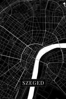 Map Szeged black
