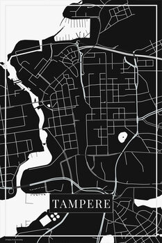 Map Tampere black