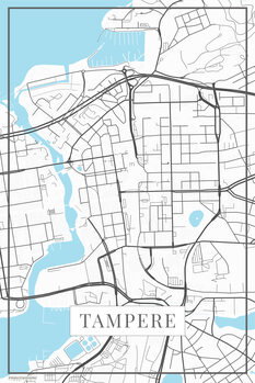 Map Tampere white