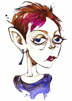 Fine Art Print Tansy Davies, English composer ; caricature
