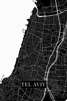Map Tel Aviv black