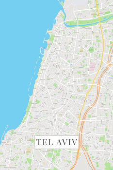 Map Tel Aviv color