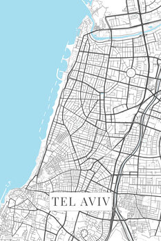 Map Tel Aviv white