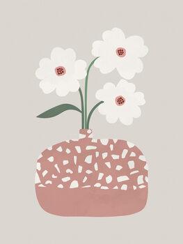 Illustration Terrazzo & Flowers